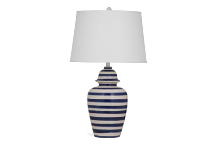 Table Lamp-Cobalt Stripe