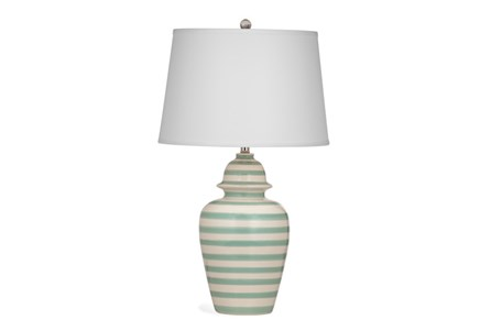 Table Lamp-Mint Stripe