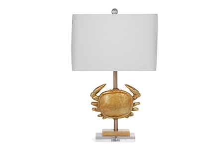Table Lamp-Gold Crab