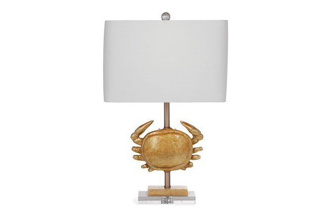 Table Lamp-Gold Crab - 360