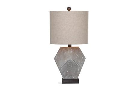 Table Lamp-Geometric Concrete Finish