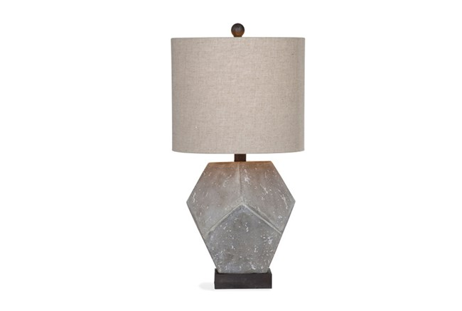 Table Lamp-Geometric Concrete Finish - 360