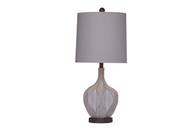 Table Lamp-Mid Century Concrete Finish - 360