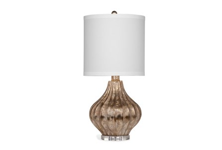 Table Lamp-Silver Leaf Fluted