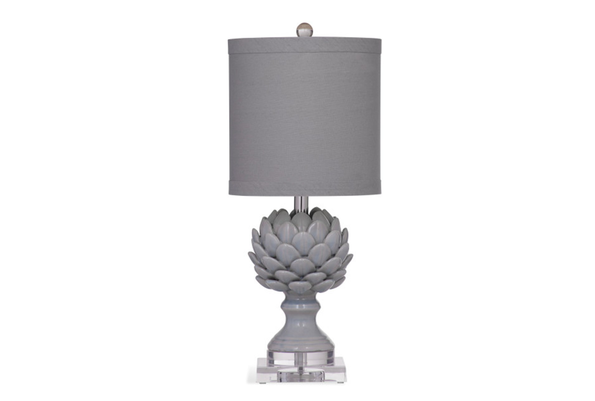 complete wood c hampton column wash grey lamp