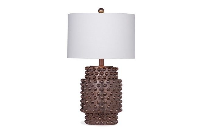 Table Lamp-Copper Studded - 360