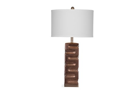 Table Lamp-Copper Cutout