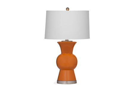 Table Lamp-Orange Tulip