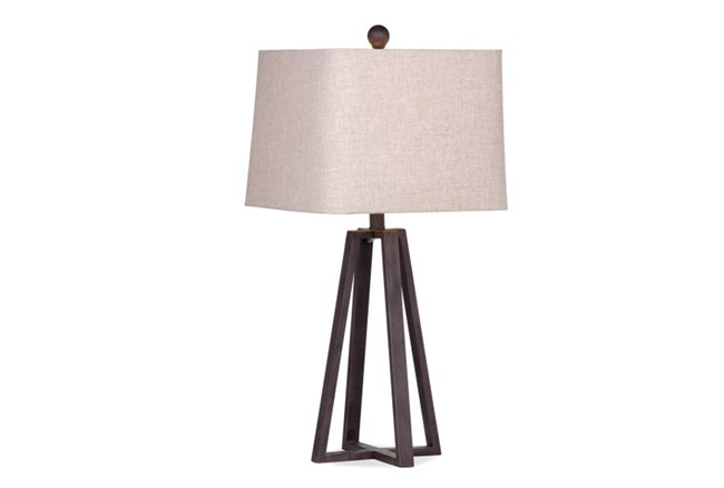 Table Lamp-Rustic Bronze Angled Pyramid - 360