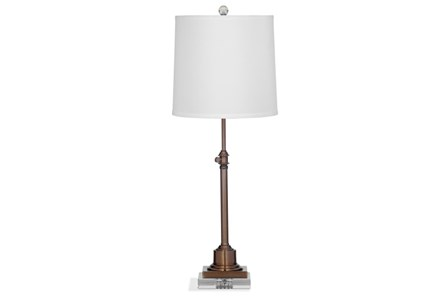 Buffet Lamp-Bronze Adjustable Height
