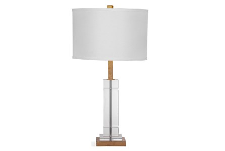 Table Lamp-Crystal Sqaure Column