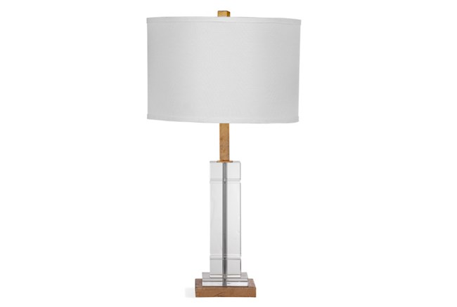Table Lamp-Crystal Sqaure Column - 360