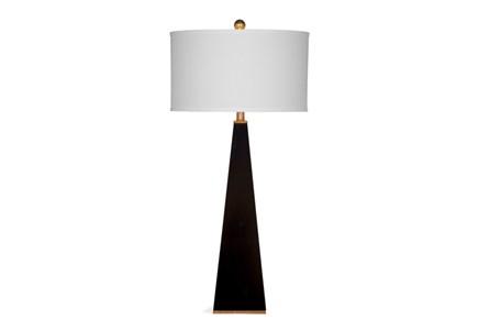 Buffet Lamp-Glossy Black Pyramid