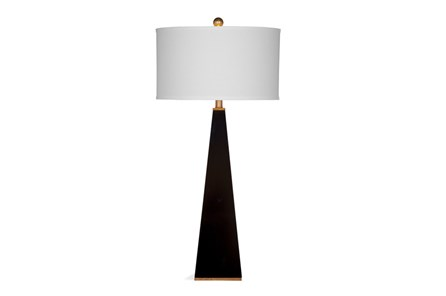 Buffet Lamp-Glossy Black Pyramid - Main