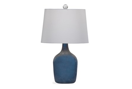 Table Lamp-Cobalt Seaglass Jug