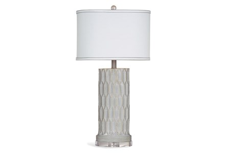 Table Lamp-Concrete Faceted Column