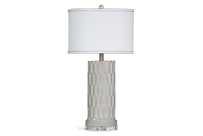 Table Lamp-Concrete Faceted Column - 360