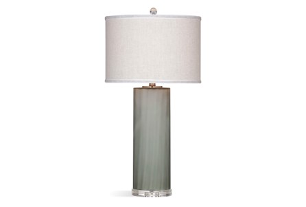 Table Lamp-Forsted Smoke Glass Column