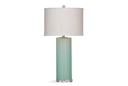 Table Lamp-Frosted Seaglass Column
