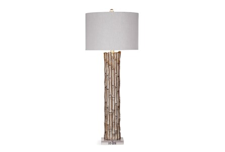 Buffet Lamp-Silver Leaf Bamboo