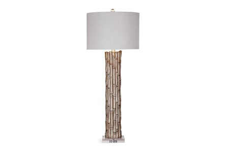 Buffet Lamp-Silver Leaf Bamboo - Main
