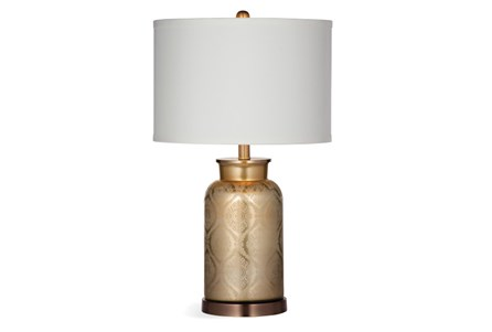 Table Lamp-Gold Damask