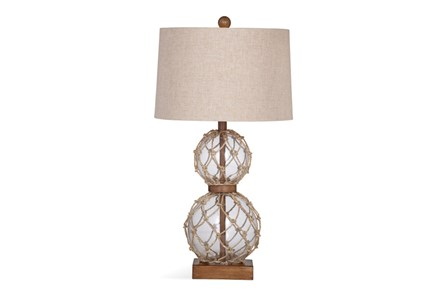 Table Lamp-Rope Net Glass