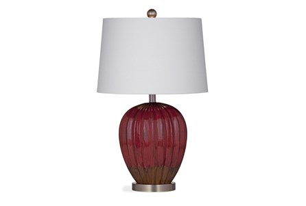Table Lamp-Distressed Red