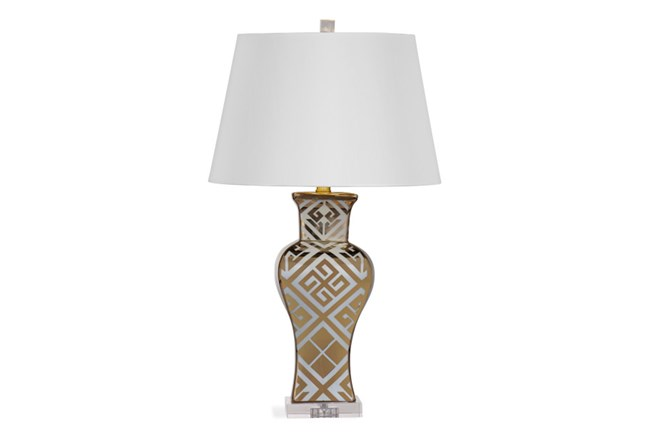 Table Lamp Gold Temple Jar 360