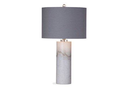 Table Lamp-White Marble Column