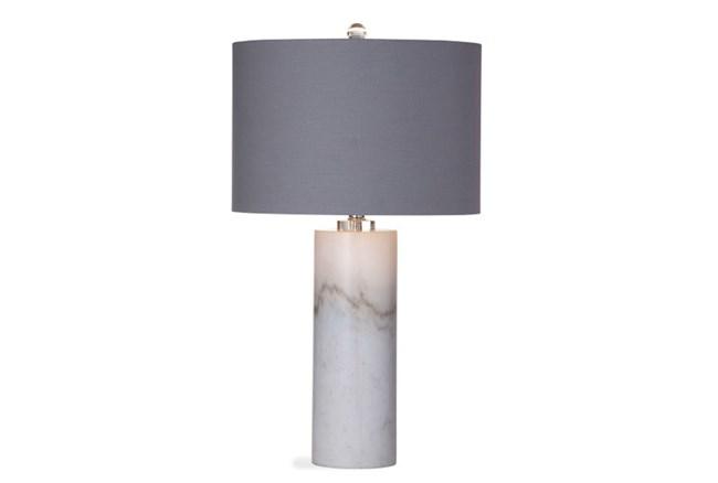 Table Lamp-White Marble Column - 360