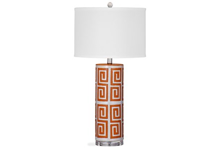 Table Lamp-Madnarin Greek Key Column