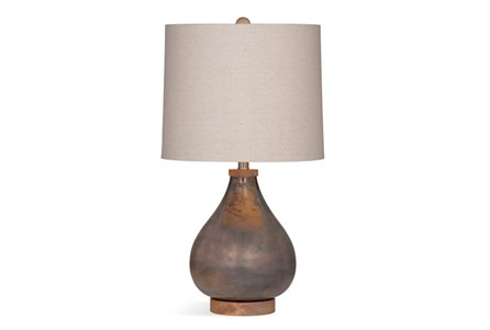 Table Lamp-Aged Copper Glass