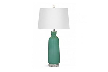 Table Lamp-Atlantis Green Glass