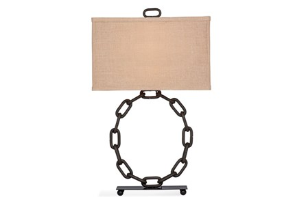 Table Lamp-Iron Links Ring