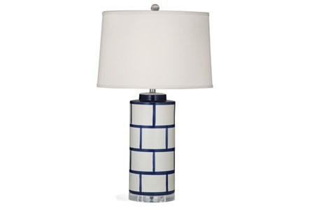 Table Lamp-Indigo Brick