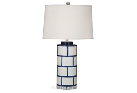 Table Lamp-Indigo Brick