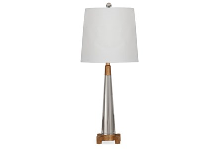 Table Lamp-Crystal And Gold Cone