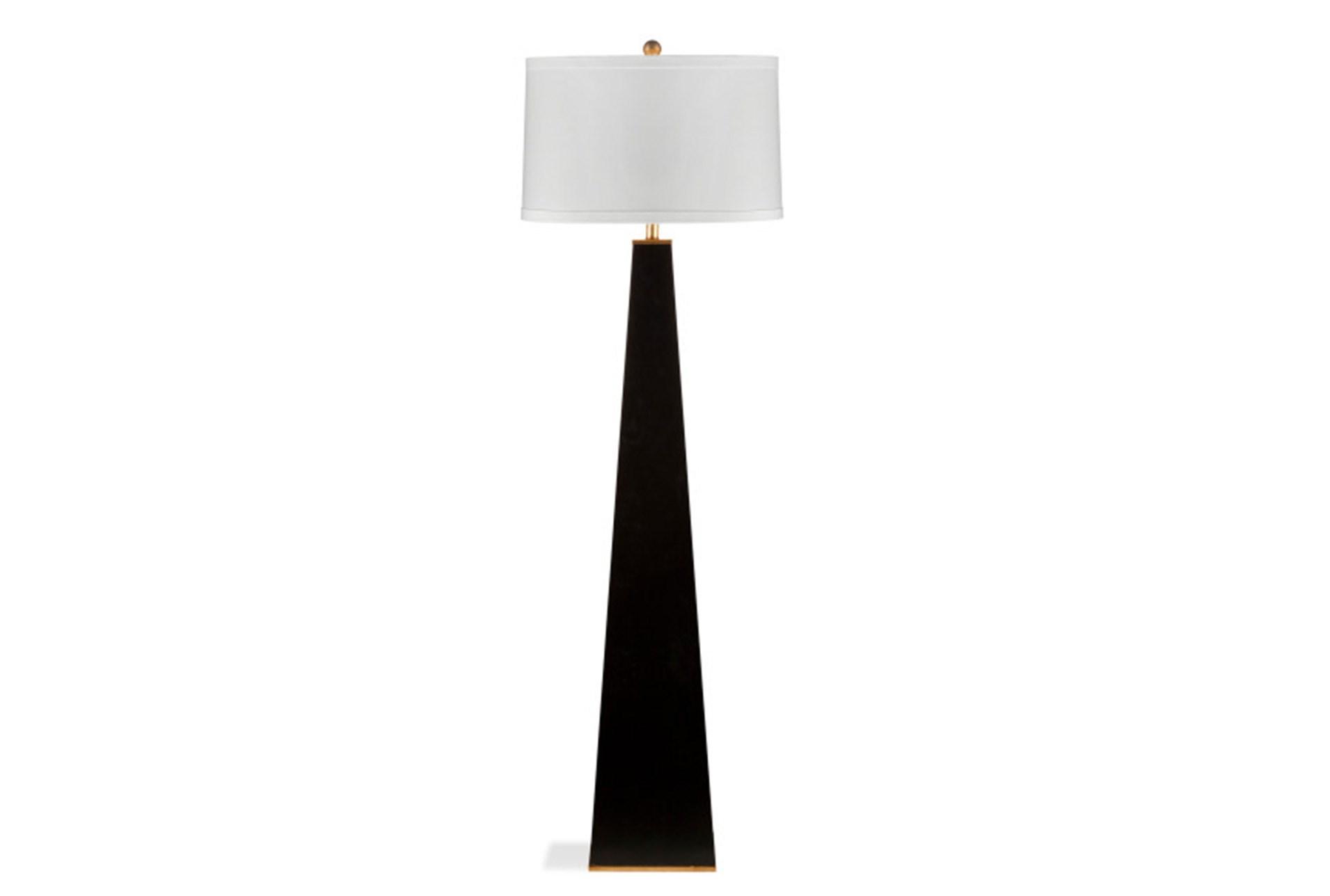 Floor Lamp Glossy Black Pyramid