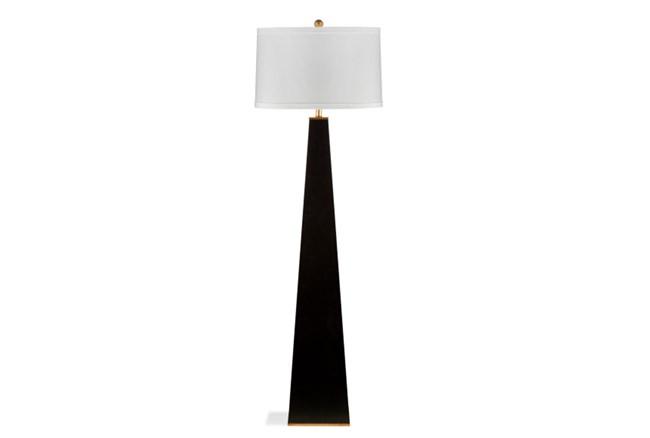 Floor Lamp-Glossy Black Pyramid - 360