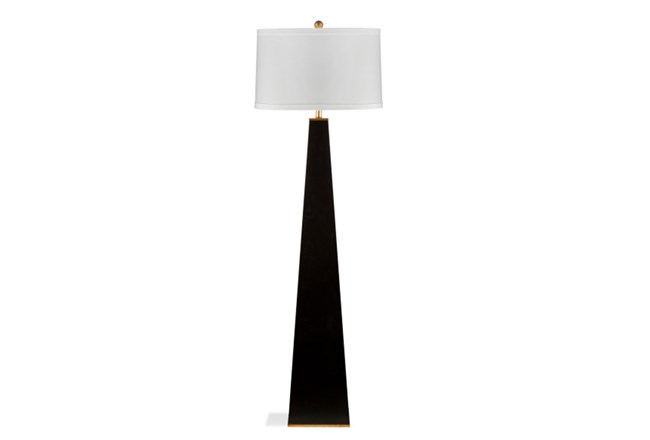 Floor Lamp Glossy Black Pyramid 360