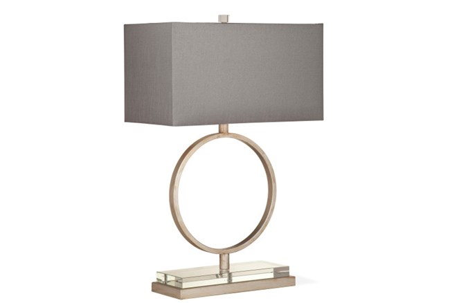 Table Lamp-Platinum And Acrylic Ring - 360