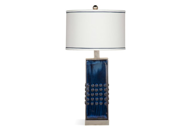 Table Lamp-Cobalt Wash Studded - 360