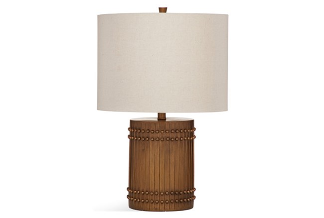 Table Lamp-Wood Barrel - 360