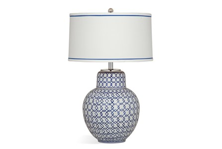 Table Lamp-Blue Lattice