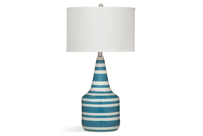 Table Lamp-Turquoise Stripe - 360