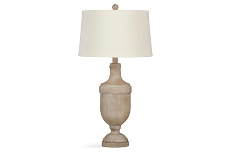 Table Lamp-Antique Wash Wood