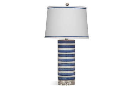 Table Lamp-Blue Stripe