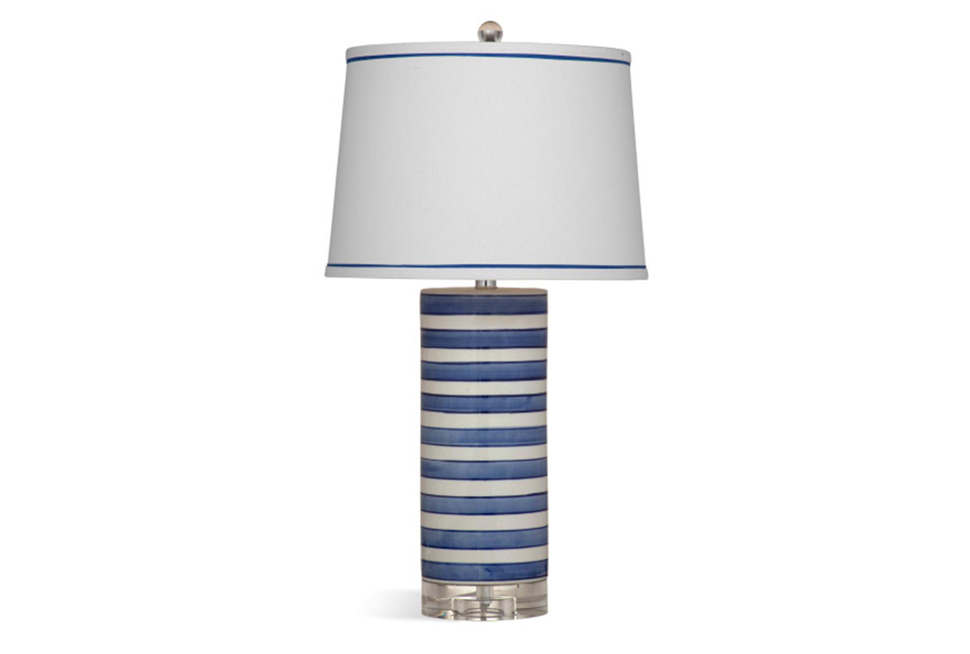 Table Lamp Blue Stripe