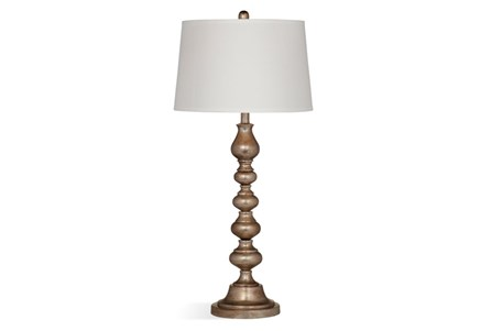 Buffet Lamp-Antique Silver Stacked